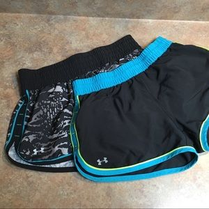 2 pair of UA athletic shorts